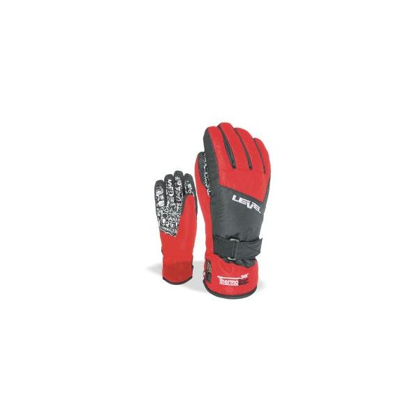 Level Snowboard Glove Glove Race Jr Mitt Red MEMBRA-Therm Warm